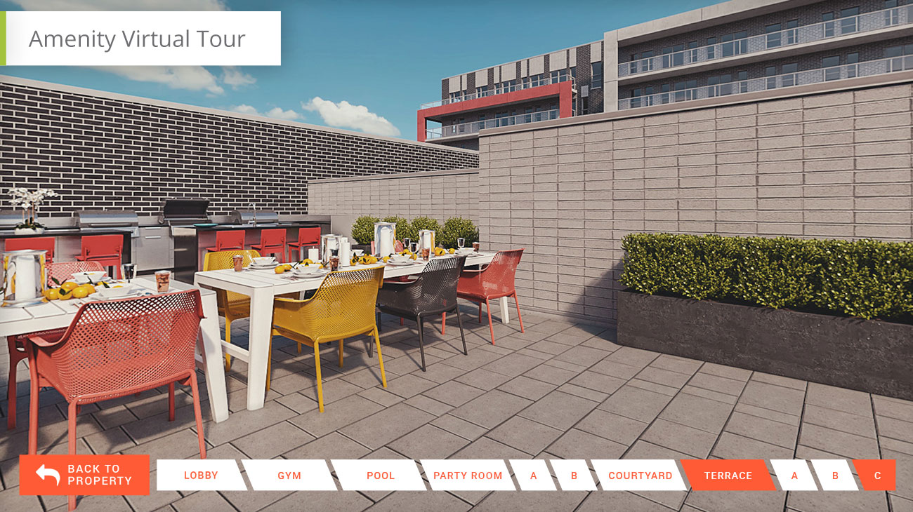 Sample amenity tour module for interactive property tour apps